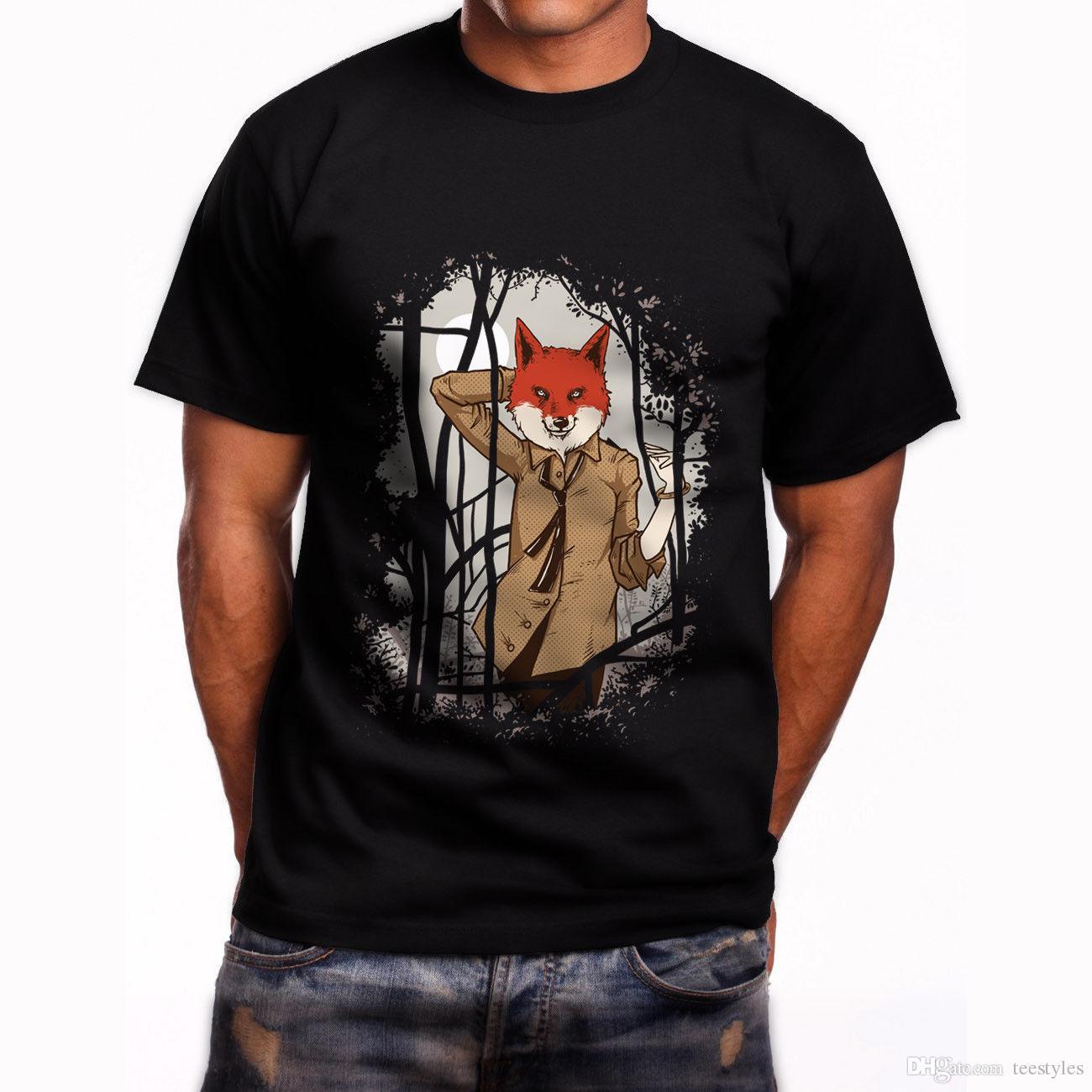 6088269724374 Compre Divertido Hermoso Estilo Fox De Manga Corta Para Hombre Camiseta  Negra Tamaño S 5Xl Camiseta Hombre Casual De Manga Corta Día De Acción De  Gracias ...