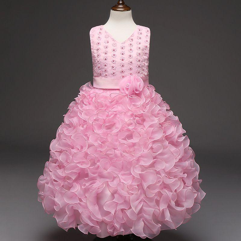 2108 New Summer Flower Children s Dress Embroidered Princess Dresses ... a0b29099303c