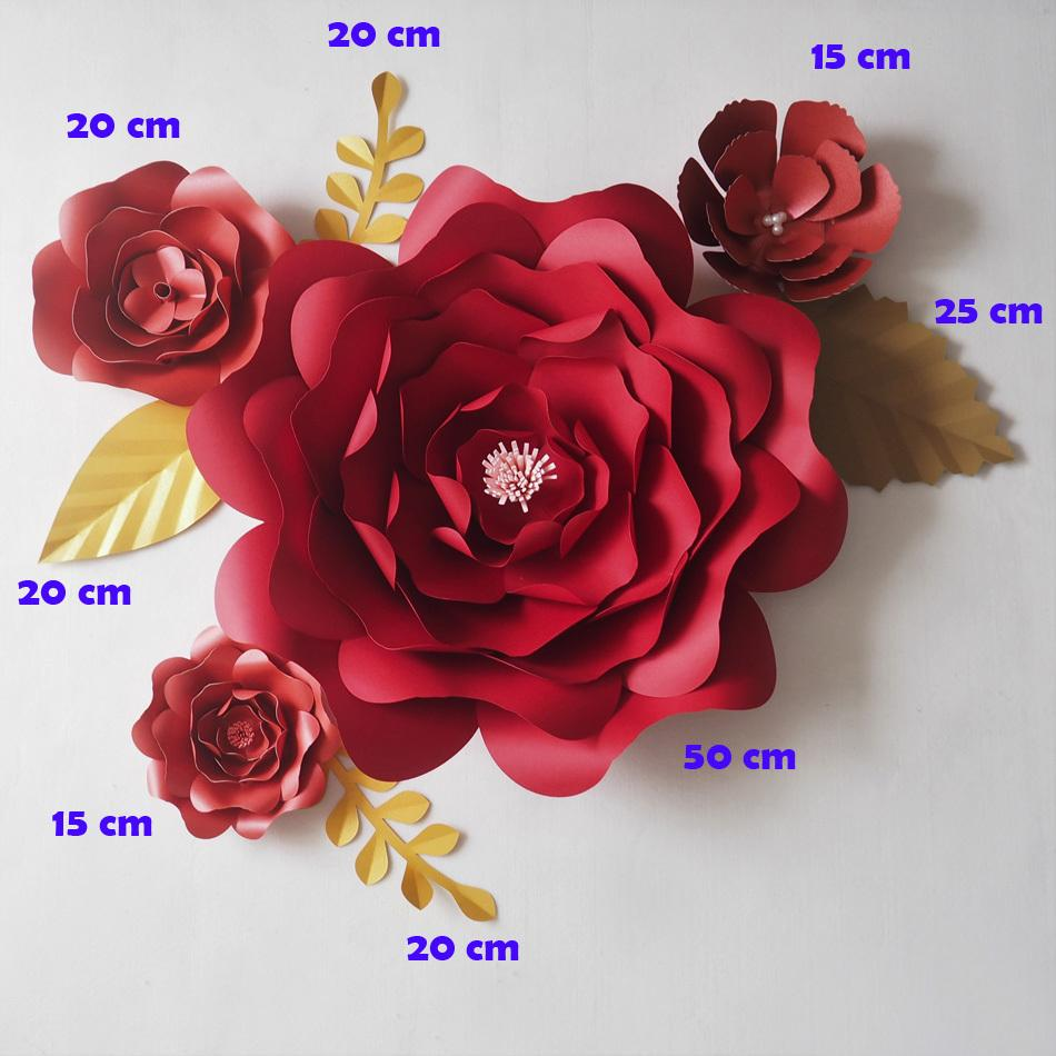 2018 diy red giant paper flowers backdrop artificial flower leaves 2018 diy red giant paper flowers backdrop artificial flower leaves wedding party deco home decoration video mix 15 50cm from yong8 10113 dhgate mightylinksfo