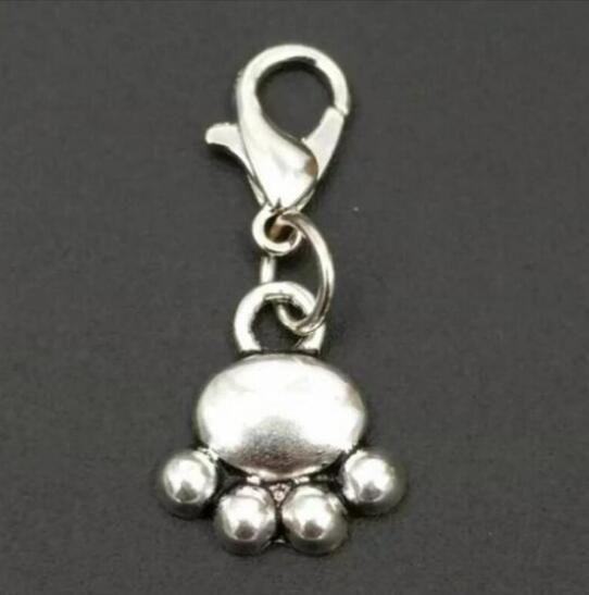 / Haute qualité Mélange Animal Chien Pattes Prints OS Chien Bol Charme Pendentif Collier Bracelet DIY Bijoux Faire Trouver A40