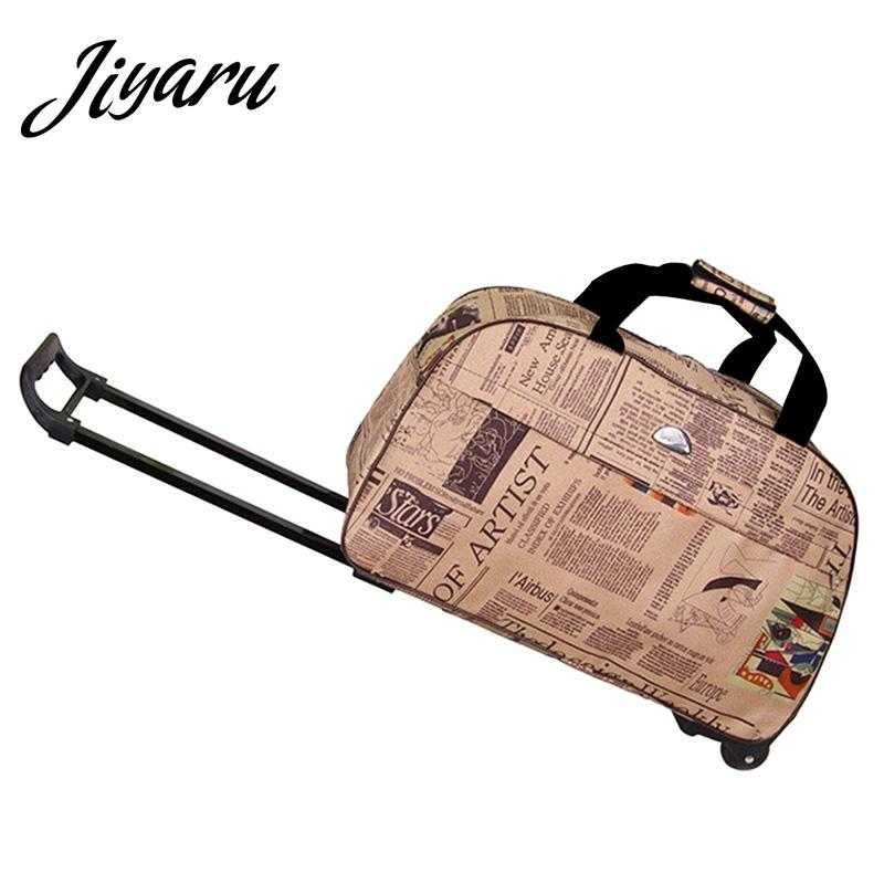 581c6fd2de Rolling Luggage Travel Bag On Wheels Trolley Luggage Shopping Travel  Suitcases For Girls Women Hand Boarding Trolley Large Duffel Bags Cheap  Duffle Bags ...