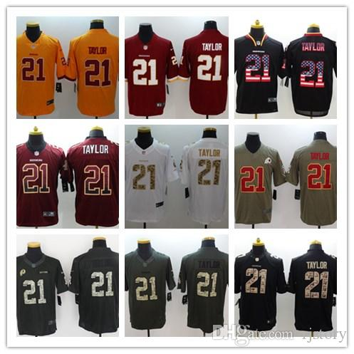 finest selection 7410c e65ea 2018-2019 Men 21 Sean Taylor Washington Redskins Football Jerseys 100%  Stitched Embroidery Sean Taylor Color Ruch Football Stitching Jerseys