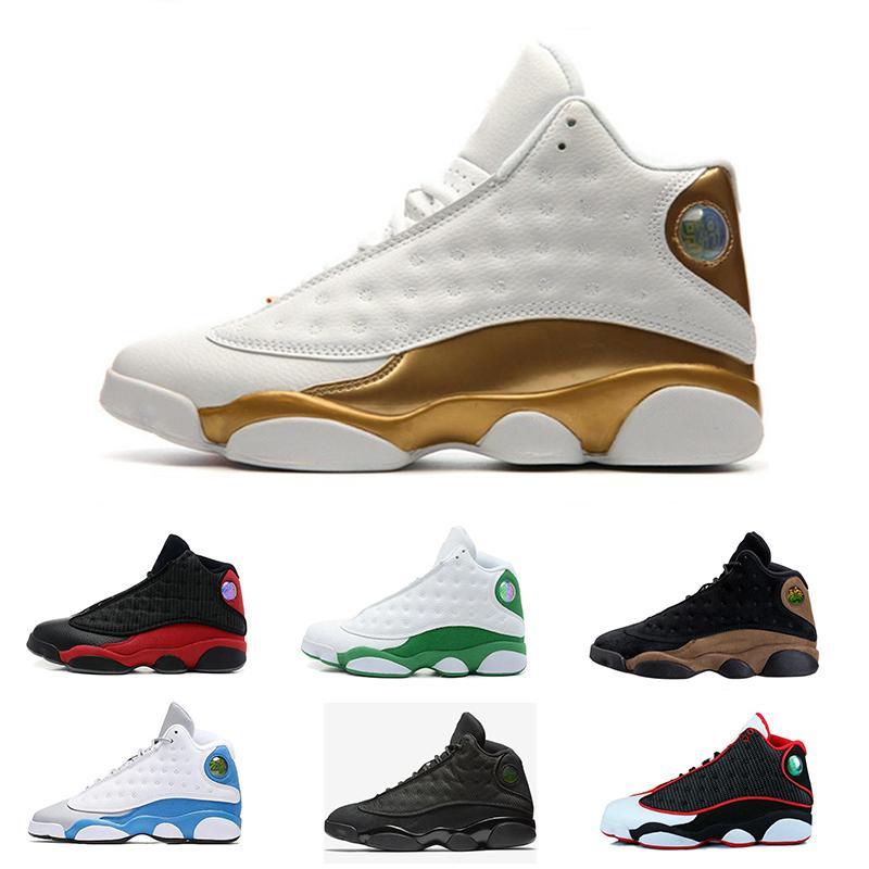 online store e9deb b7faf Großhandel Nike Air Jordan 13 Retro 2018 Mens Klassische 13 13s Schuhe  Italien Blue Hyper Königliche Höhe Liebhaber Respekt Olive Schwarze Katze  Gezüchtet ...
