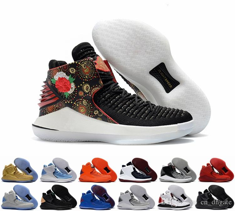 2018 New Air 32 Chinese New Year Men Basketball Shoes High Quality Airs  XXXII Retros 32s Hornets Mens Trainers Sports Sneakers Size 40-46 Air 32  Chinese New ...