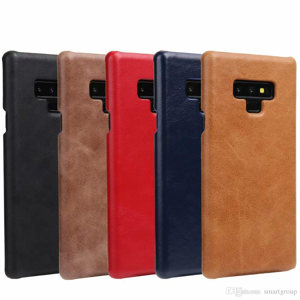 check out 50830 0b064 For Samsung Note 9 Case Noble Genuine Leather Back Impact Holster  Protective Cover Case For Samsung Galaxy Note 9