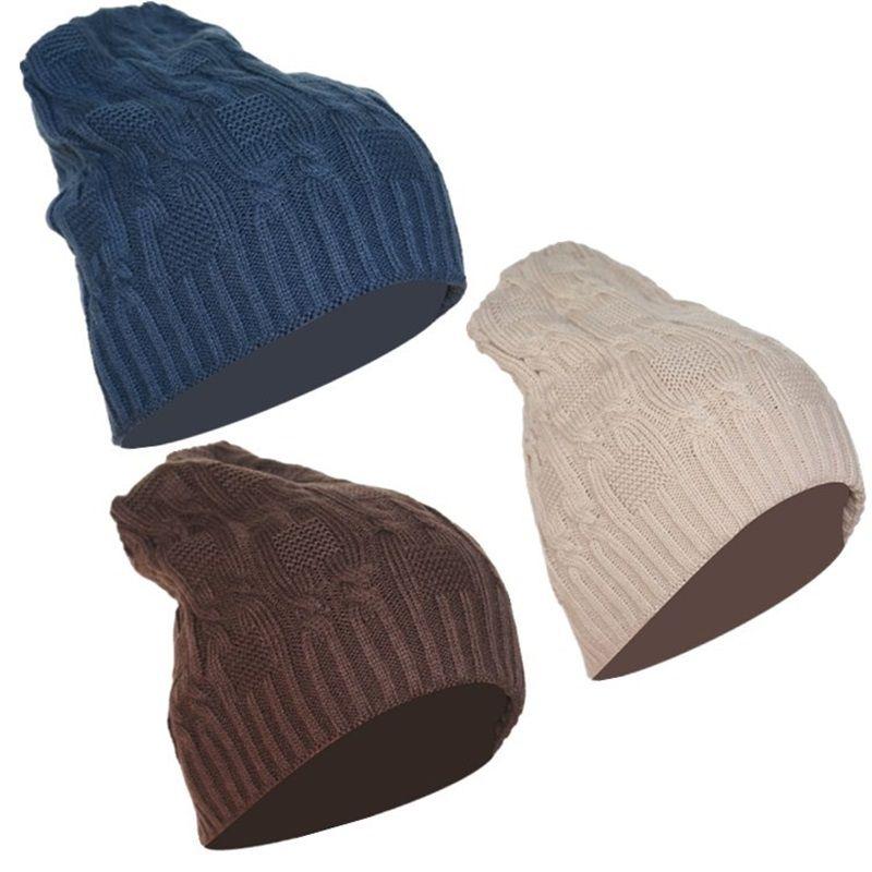 Compre Otoño Invierno Hombres Mujeres Gorras Sombrero De Punto 8 ...