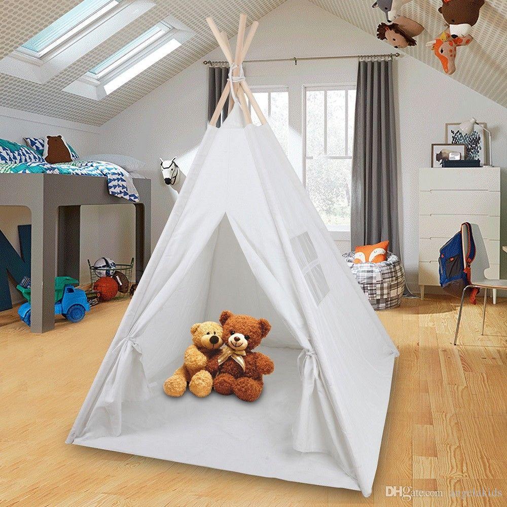 Tenda Indiani Fai Da Te acquista tende da gioco pieghevole teepee room decor bambini play house  tenda indiana giochi allaperto al coperto bambini wigwam a 35,74 € dal