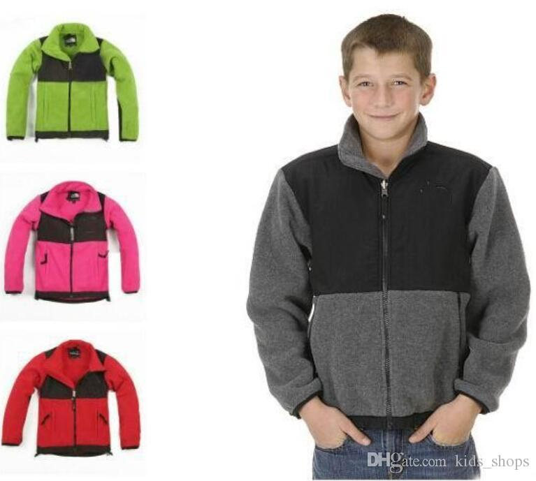 Caldo inverno North kids Soft Fleece Osito Giacche con cappuccio Outdoor Casual Sports Warm bambini antivento Down Cappotti Kids SoftShell Suit