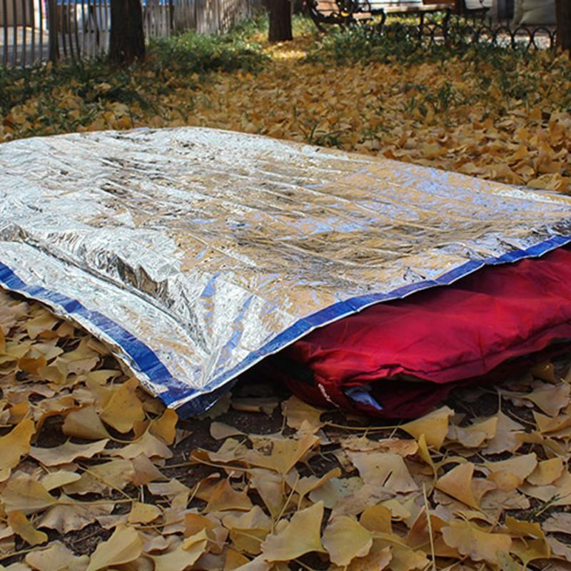 Camp Sleeping Gear 1*2m Good Deal Reusable Emergency Waterproof Survival Silver Foil Camping Sleeping Bag