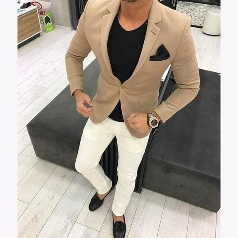180c9f0a4f8 2019 Fashion Latest Brown Men Wedding Suits Khaki Mens Suit Casual Blazer  Skinny Tuxedo Custom Kingsman Jackets From Layette66