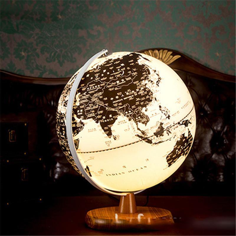 2019 European Style World Globe Map Table Led Lamp 25cm Children S