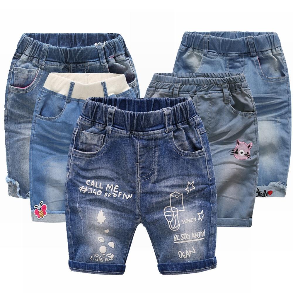 a27dff492 Compre 9m 4T Pantalones Cortos De Verano Para Niños Niñas Pantalones  Vaqueros Pantalones Cortos Estrellas Lindas Mariposa Ropa Para Niños Ropa  Para Niños ...
