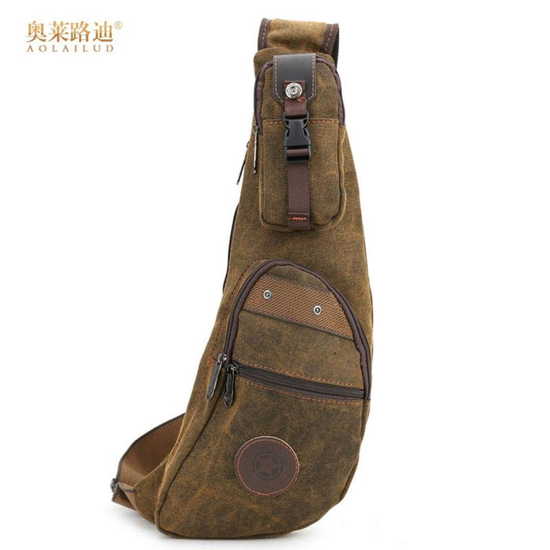 b8e025b1d9fd New 2018 Men Canvas Casual Travel Riding Shoulder Cross Body Messenger Sling  Back Pack Chest Crescent Bag Ladies Bags Backpack Purse From Annawawa