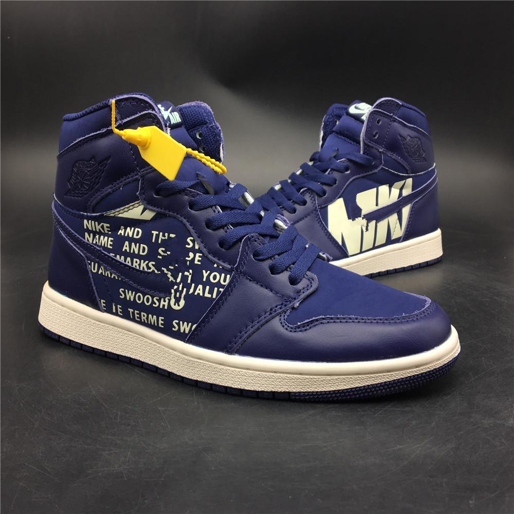 Signed High OG 1s Mens Women New Basketball Shoes 2018 Chicago UNC 1 ... 2610740eaa
