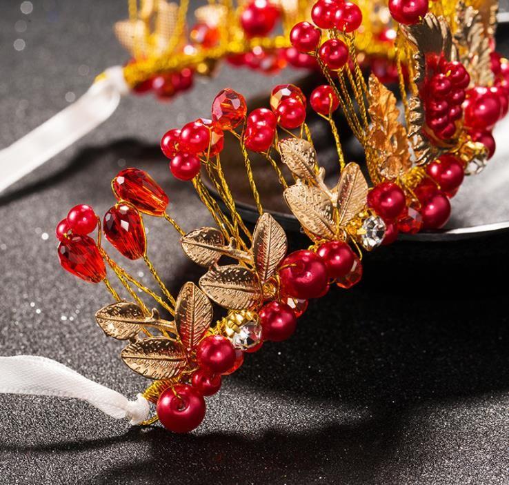 Gelin taç inci elmas süsler gelin elbise aksesuarları