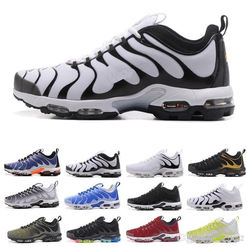 72ce434ecf68e7 2018 2018 New TN Plus Running Shoes Classic Outdoor Run Shoes Tn Black White  Sport Shock Sneakers Mens Requin Olive Silver In Metallic 40 45 From  Top350v2