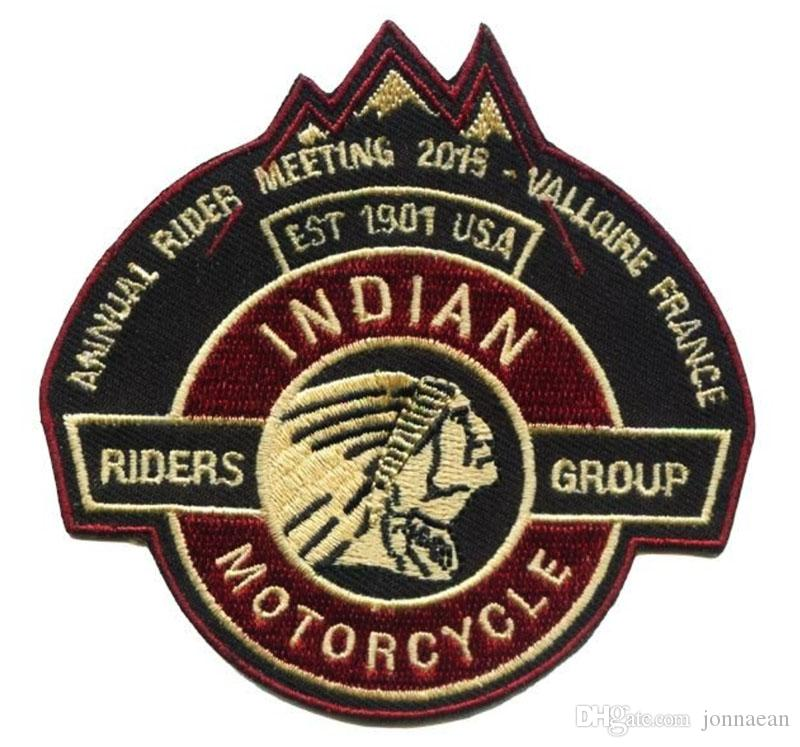 Indian 1901 Embroidery Patches Freedon Patches Riders Group USA for Jacket Motorcycle Club Biker 4 inch Made In China Factory