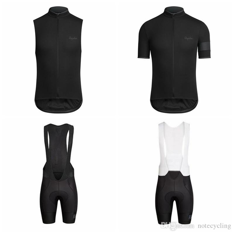 36356767b RAPHA Cycling Short Sleeves Jersey Bib Shorts Sleeveless Vest Sets 2018  Summer MTB Bike Ropa Ciclismo Hombre Hot Sale A41940 Mountain Bike Apparel  Cycling ...