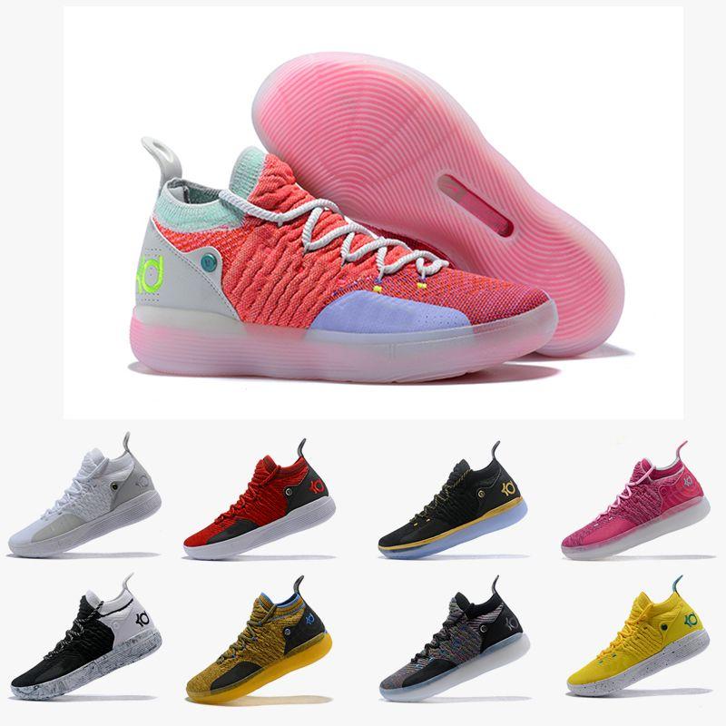 new product 9d08e 7b006 Großhandel 2018 KD 11 EP Elite Basketball Schuhe KD 11s Männer Multicolor  Peach Jam Herren Turnschuhe Kevin Durant All Star BHM Sneakers Größe 40 46  Von ...