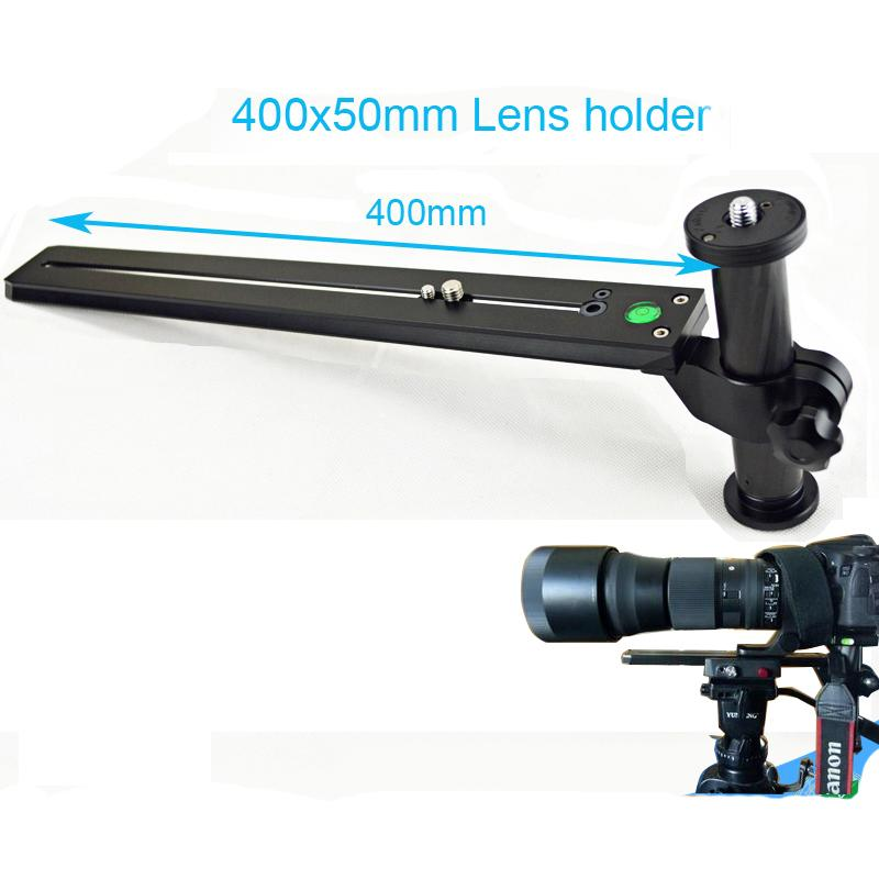 Telephoto Zoom Lens Support Bracket Holder Long-Focus Camera Support with Long Rail Quick Release Plate for Manfrottoand Benro