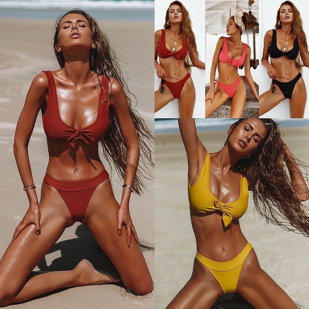 59673ea7e8 2019 2018 Newest Bikini Sets Swimwear For Women Bathing Suit Beachwear Sexy  Lady Brazilian Swimsuit Padded Bra Bikini SO0257 From One Stopos
