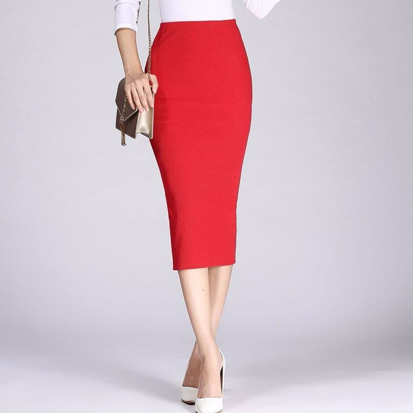2019 2019 Spring Autumn Long Pencil Skirts Women Sexy Slim Package Hip Maxi  Skirt Lady Winter Sexy Chic Wool Rib Knit Midi Skirt Saia From Your07 42677cdc906c
