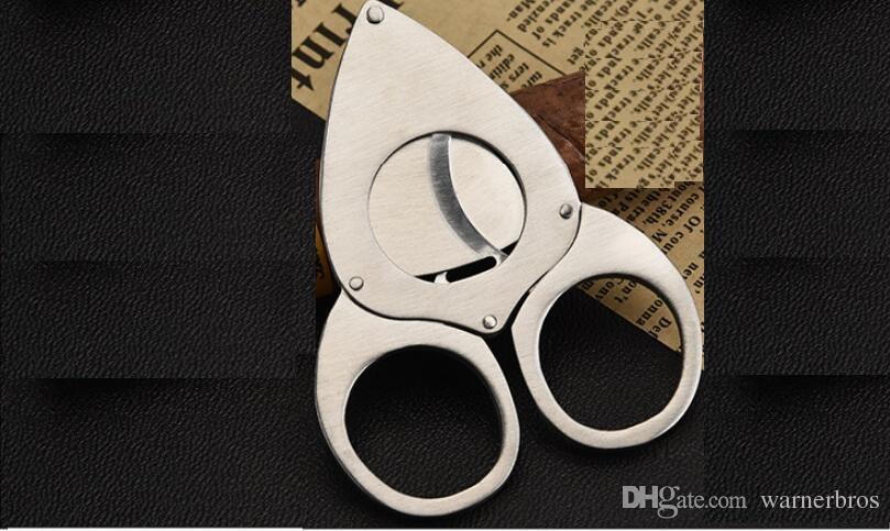 USA sharp double Blades cigar knife Stainless Steel Cigar Cutter Pocket Gadgets Cigars Scissors shears smoking accessories