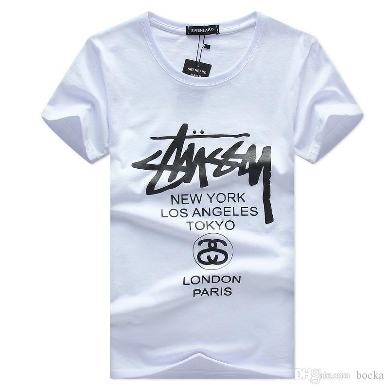 31ea61acb 2018 Mens Summer Tees Plus Size Shirt Short Sleeve T Shirt Printed Cotton T-shirt  Men Designer Clothing S-5XL Online with  13.18 Piece on Boeka s Store ...