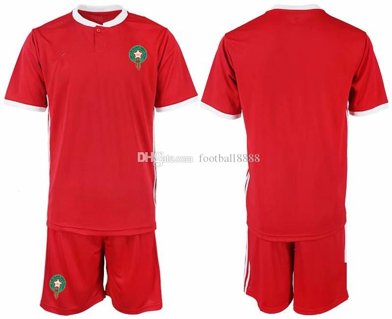 Compre 2018 Homens Marrocos Verde Azul Vermelho ZIYECH BOUTAIB BOUSSOUFA EL  AHMADI BENATIA Kits De Goleiro De Manga Curta 19 De Football8888 cb718ef376acc
