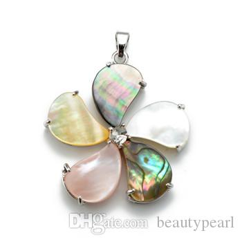 cc0fbe18a13 Wholesale Windmill Multicolor Paua Abalone Shell Pendant With Bead Necklace  Chain Natural Abalone Shell Stone Unique Jewelry Silver Heart Pendant  Necklace ...