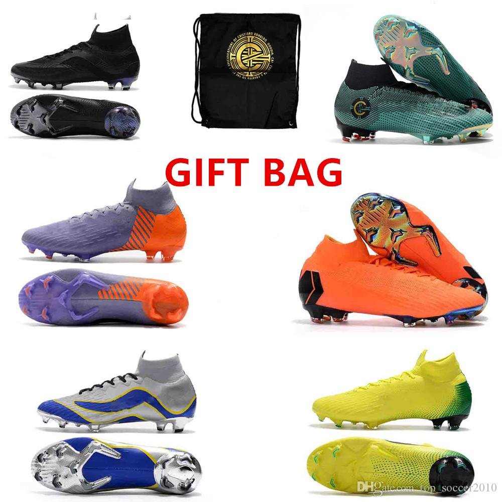 ac079ba3b325 2019 20th Anniversary 2018 Mens High Ankle Boots CR7 Mercurial Superfly KJ  VI 360 Elite FG Shoes VI Elite SG AC FG ACC Superflys 5 Outdoor Cleats From  ...