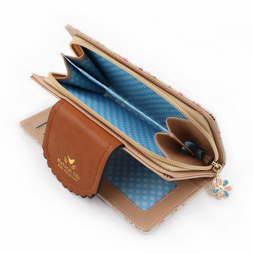 2018 New Fashion Flower Women Wallets Embroidery Orchid Brand Designer Phone Wallet Women Purse High Quality Card Wallet Female