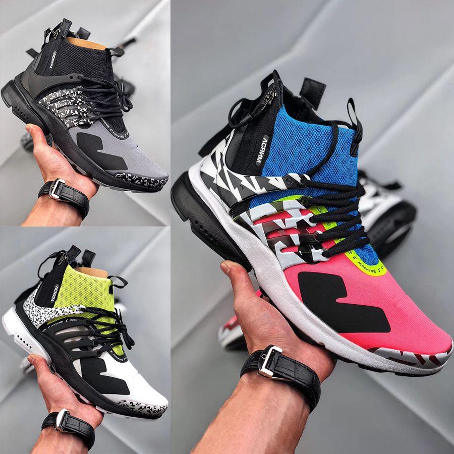 huge selection of fc374 99379 Zapatillas De Deporte Acronym X Presto Mid De Diseño Para Hombre 2019  Nuevas Botas Con Cremallera Funcionales Para Mujer Negro Blanco Amarillo  Graffiti ...