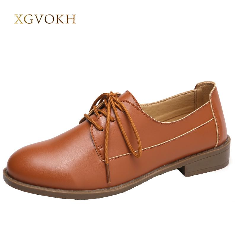 22a5aedbd005 XGVOKH Women Comfortable Flats Solid British Style Oxford Ladies Business  Shoes Casual Lace Up Spring Autumn Woman Shoes Orthopedic Shoes Comfortable  Shoes ...