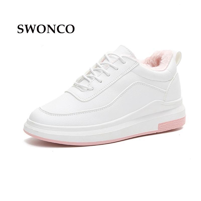 3eff1253a Compre Atacado Sapatos De Plataforma Das Mulheres 2018 Inverno Quente De  Pelúcia Estudante Sapato Mulheres Sapatos De Plataforma De Salto De  Borracha Sola ...