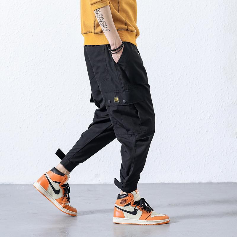 eecbef4c6 2018 nueva moda masculina japonesa pies pantalones de ocio Hip Hop  Pantalones cargo Streetwear Hombres Harem Pant Pantalones de camuflaje ...
