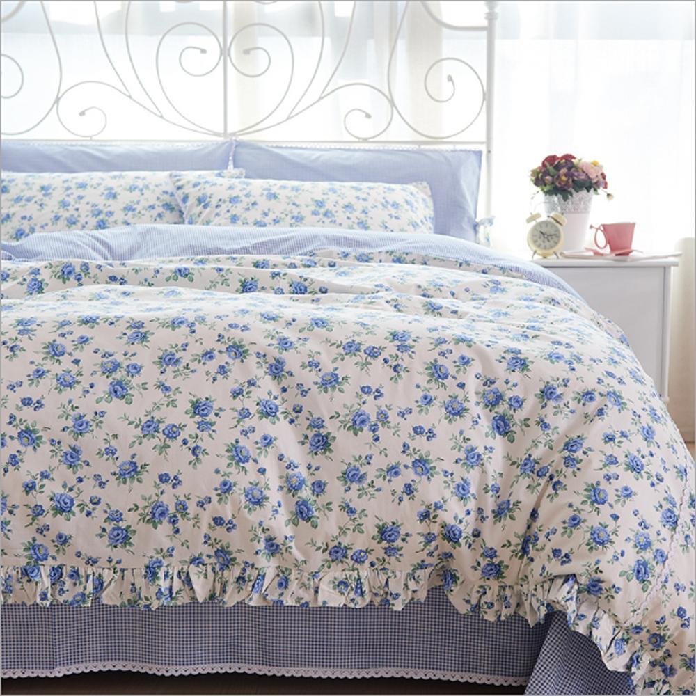 Delicieux Wholesale Korean Rural Style Lace Small Floral Design Duvet Cover Bed Sheet  Set 100%cotton Twill Princess Style Flower Pattern Bedding Set Duvet  Comforter ...