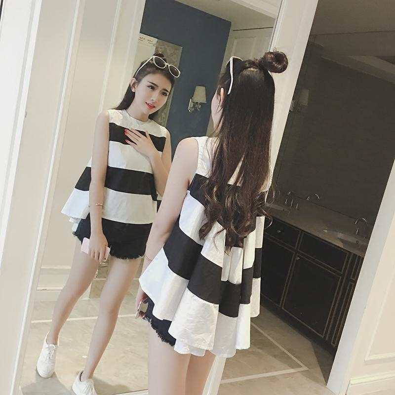 2019 Pengpious Mother Clothes Sleeveless Striped Cotton Blouses With Black  Belly Shorts Twinset Maternity Clothes Set Pregnancy Suits From Breenca 1da3ffcc9