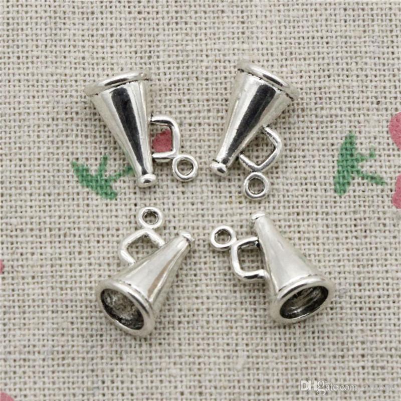 ad9ef48853e0 81 unids Charms altavoz megáfono porristas 15 * 9 * 9mm de Plata Antigua  Colgante de Aleación de Zinc Joyería DIY Hecho A Mano Pulsera Collar de ...