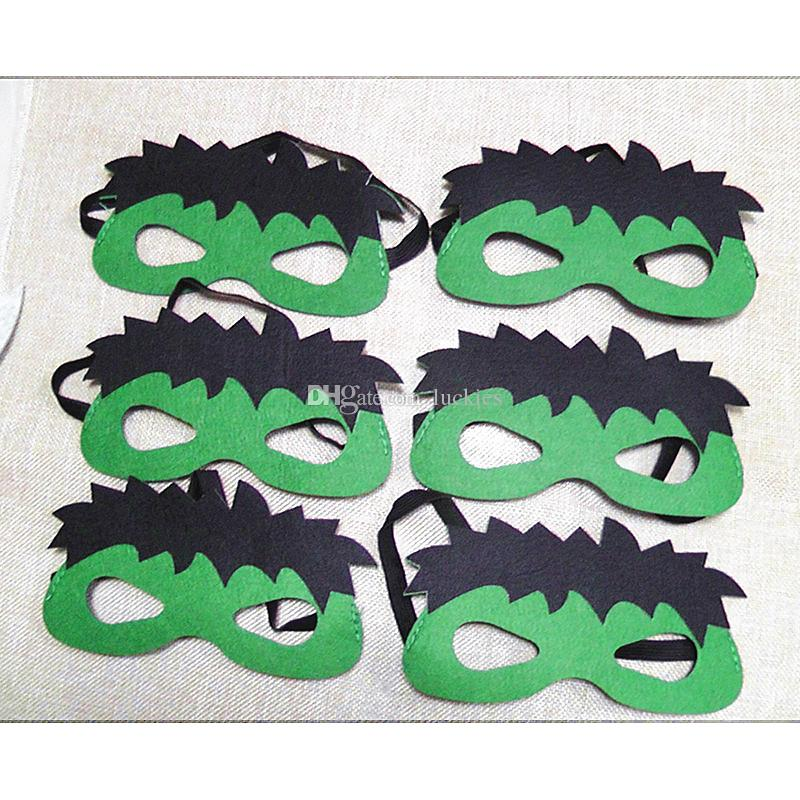 108 stlye New Design Children superhero mask cosplay halloween half masks superman spiderman captain america Eye Masks for Christmas party