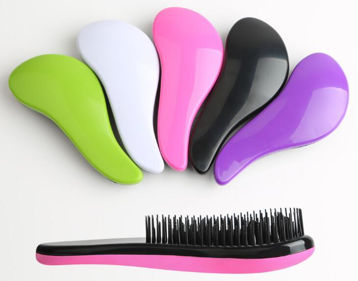 Colorful Plastic Comb Chicken Leg Type Anti Static Hair Brush Soft Tangle Shower Massage Combs Pink Blue 3 1om B 2018