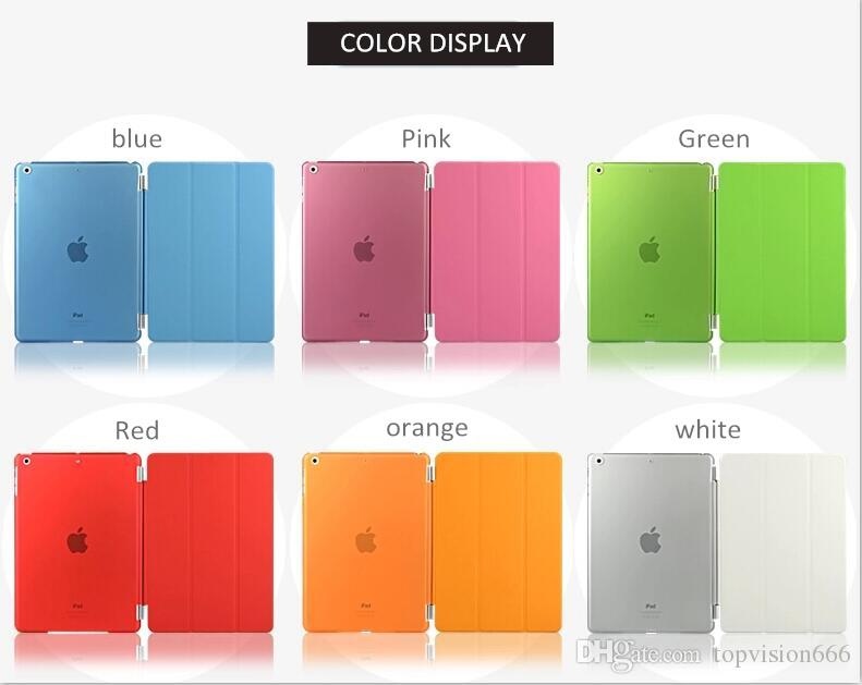 Nice thin magnetic smart cover+back case for 2017 ipad air 1 2 mini 1 2 3 4 Pro 9.7 10.5
