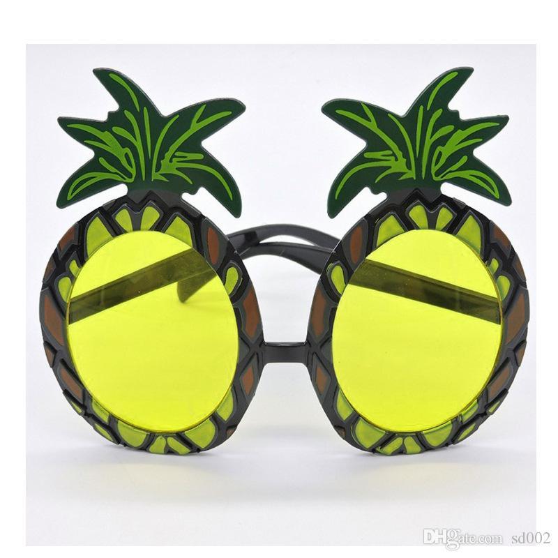 Engraçado Abacaxi Óculos De Plástico Bonito Resuable Óculos Para Masquerade Decoração Do Partido Venda Direta Da Fábrica 3 4mt X