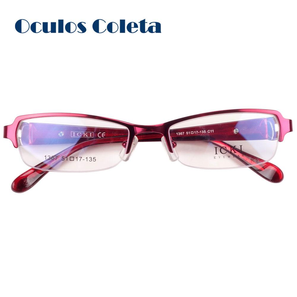 2018 Beautiful Eyeglasses Frames For Women Red With Flower From