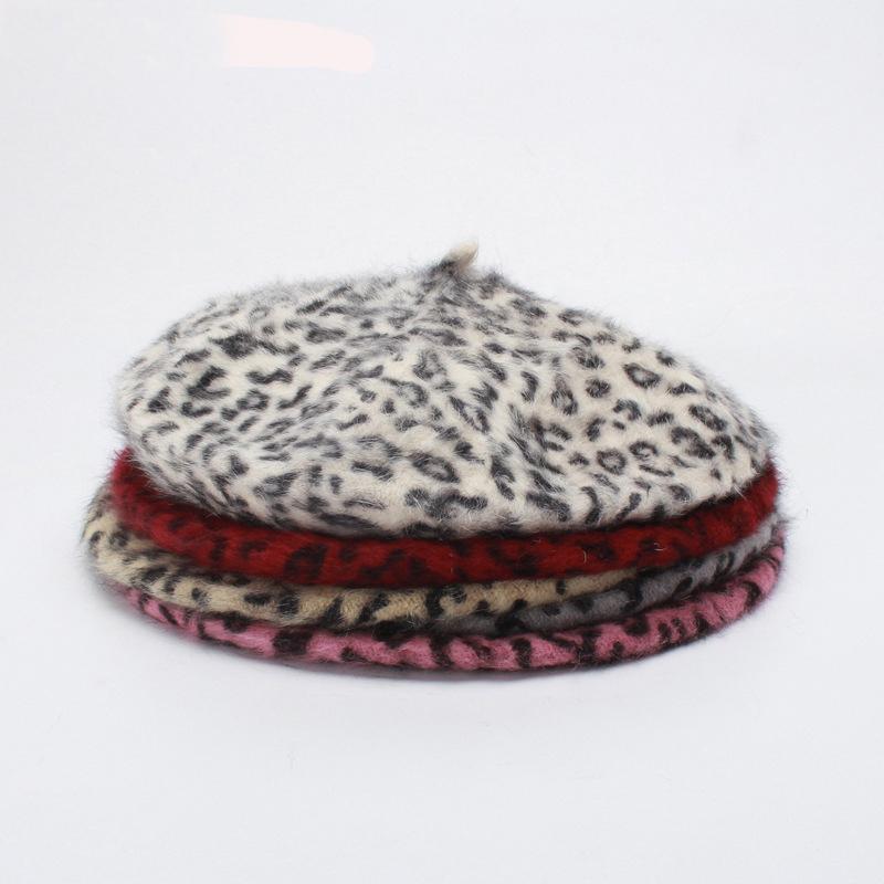 59d814e9776 2018 New Arrival Fashion Women Hat Sexy Female Winter Rabbit Leopard ...