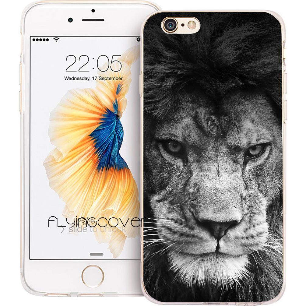 best loved b56c8 c310b Fundas Black Lion King Clear Soft TPU Silicone Phone Cover for iPhone X 7 8  Plus 5S 5 SE 6 6S Plus 5C 4S 4 iPod Touch 6 5 Cases.
