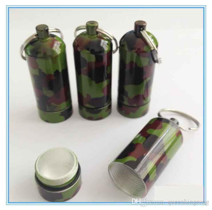 2018 Xl Herb Tobacco Proof Container Keychain Camouflage Airtight Case Waterproof Aluminum Stash Jar Tea Pot Jewelry Storage 2 Sizes From Queenkingrong ... & 2018 Xl Herb Tobacco Proof Container Keychain Camouflage Airtight ...