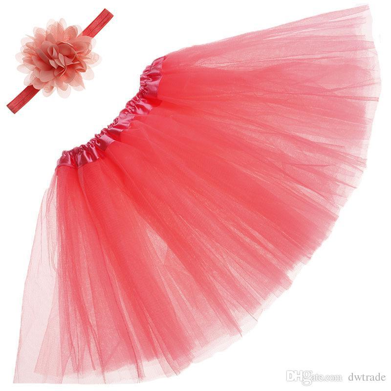 Filles infantiles Tutu jupe Set avec des bandeaux d'été Pretty Pretty nouveau-né bébé fille Vêtements Vêtements photographiques Princess Robes 15 couleurs