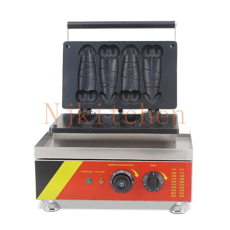 Livraison gratuite utilisation commerciale 110v 220v gaufres sur bâton pénis gaufrier fabricant de fer machine moule