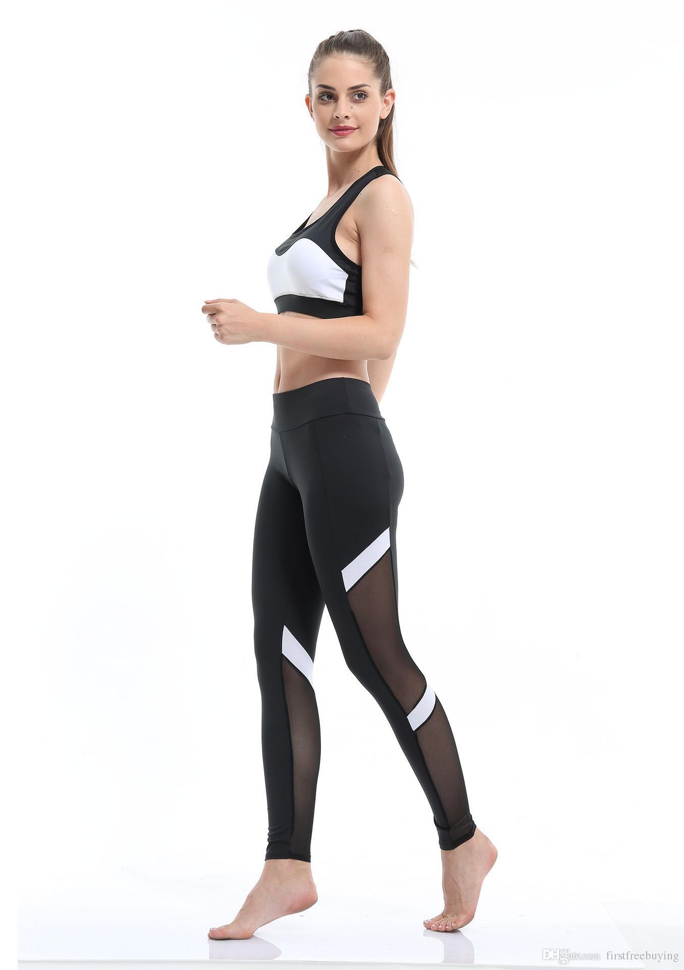 Fashion Four Seasons Sports Yoga Pants Women's Legs Hollow Stretch Fitness Sports Trousers Pants ladies leggings